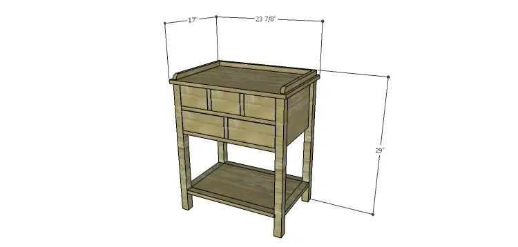 Presley 5-Drawer Table Plans