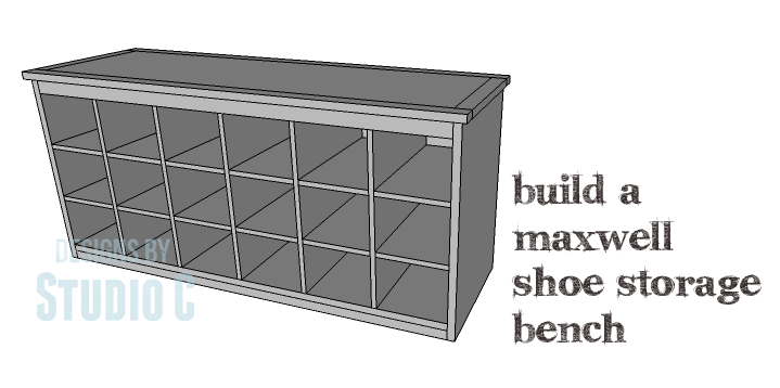 Foyer Bench With Shoe Storage Plans : Diy plans to build a maxwell shoe storage bench