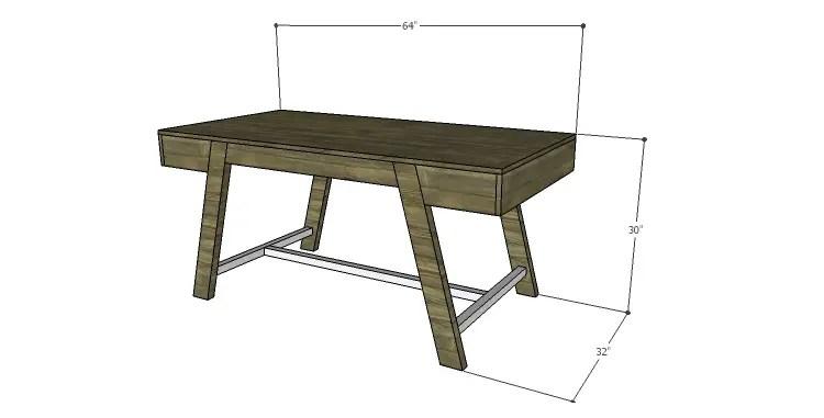 DIY Plans to Build a Wyatt Writing Desk