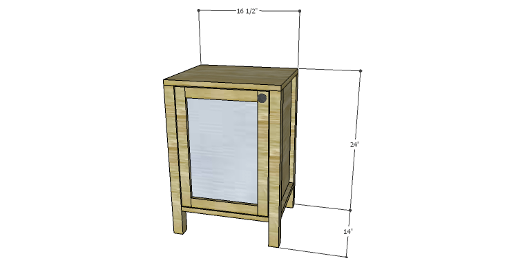 Diy plans to build a valerie nightstand for Simple nightstand designs