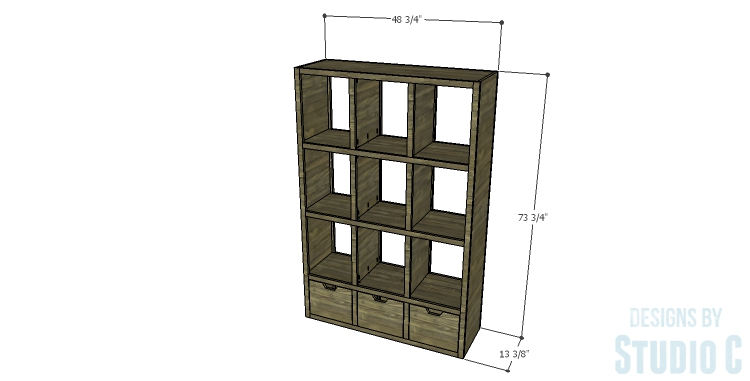 DIY Plans to Build a Reclaimed Bookcase Divider