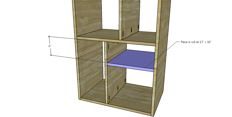 DIY Plans to Build a Daisy Bookcase_Drawer Shelf