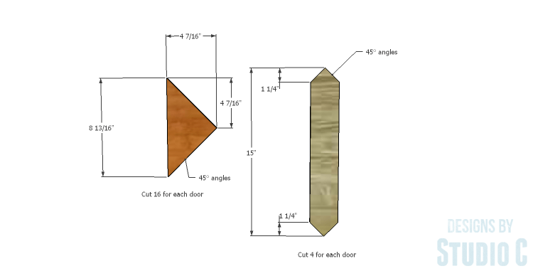 DIY Plans to Build a Mosaic Cabinet_Doors 2
