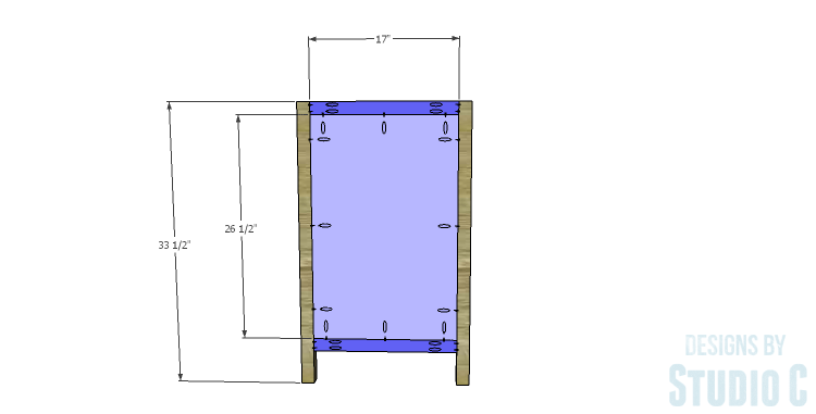 DIY Plans to Build a Mosaic Cabinet_Sides