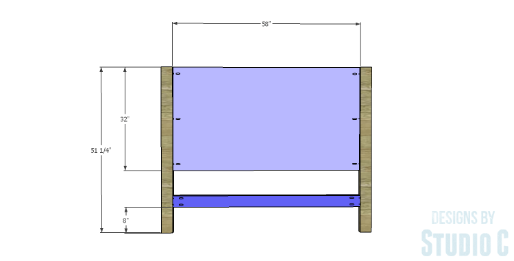 DIY Plans to Build a Monica Headboard_Panel & Stretcher