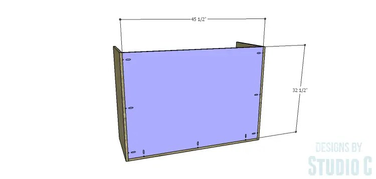 DIY Plans to Build a Brenley Media Console_Back
