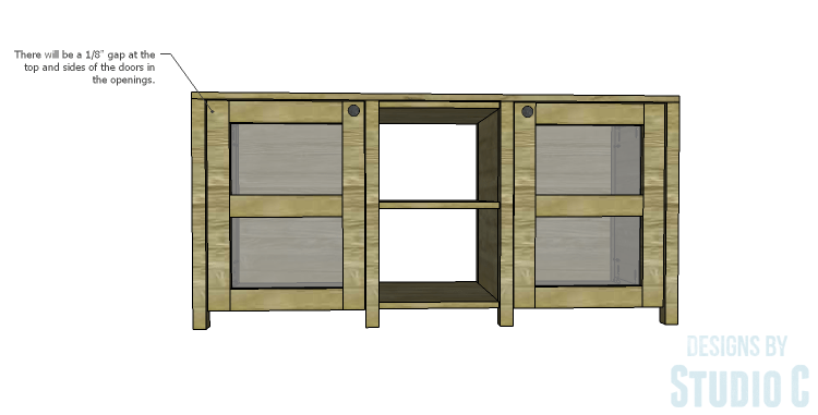 DIY Plans to Build a Connor Media Console_Doors