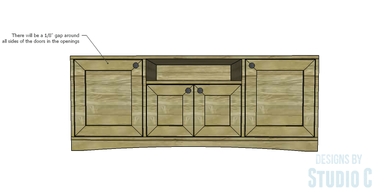 DIY Plans to Build a Rushton Media Stand_Doors