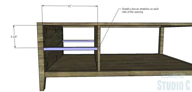 DIY Plans to Build a Drew Cocktail Table_Drawer Stretcher