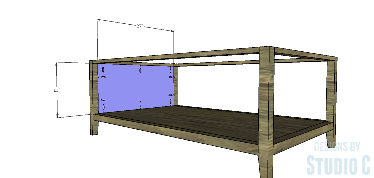 DIY Plans to Build a Drew Cocktail Table_Side