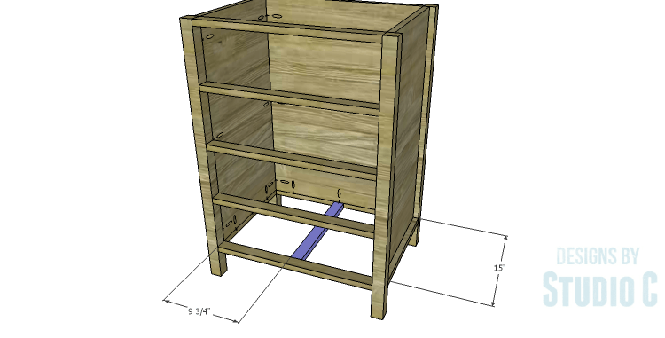 DIY Plans to Build a Matteo Drawer Cabinet_Lower Stretcher Support