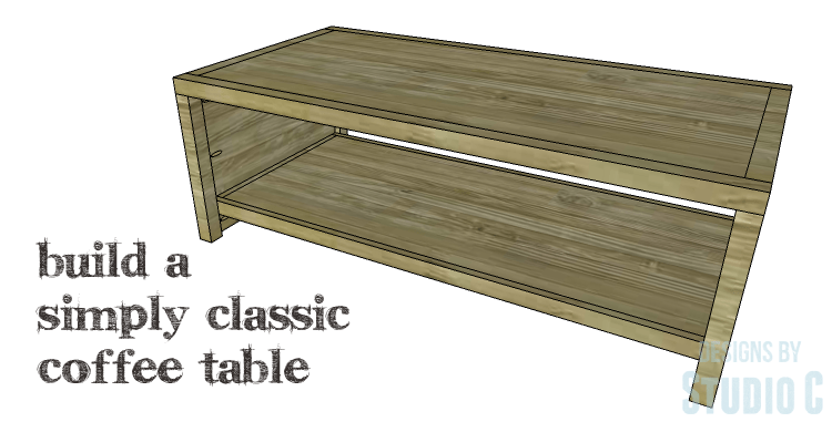 DIY Plans to Build a Simply Classic Coffee Table_Copy