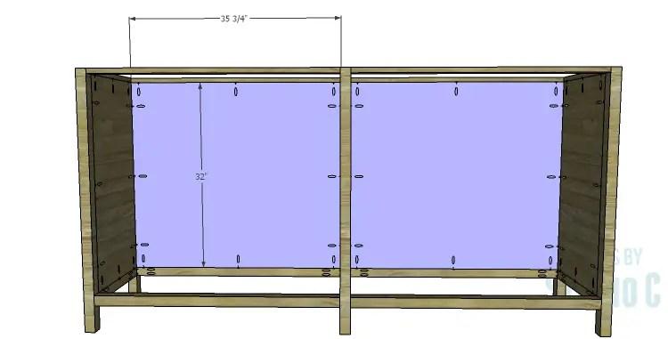 DIY Plans to Build a Frances Buffet_Back Panel