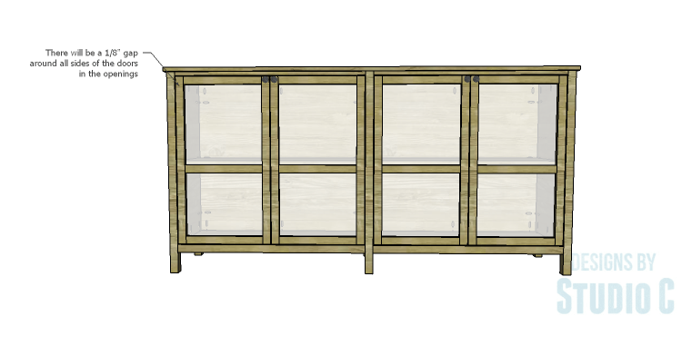 DIY Plans to Build a Frances Buffet_Doors