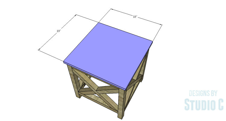DIY Plans to Build a Riley End Table_Top