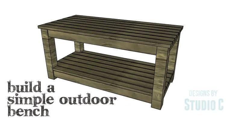 Diy plans to build a simple outdoor bench for Simple garden bench designs