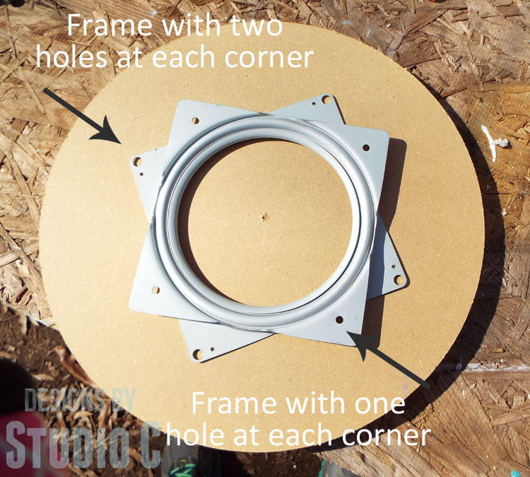 How to Install Lazy Susan Hardware_Frame