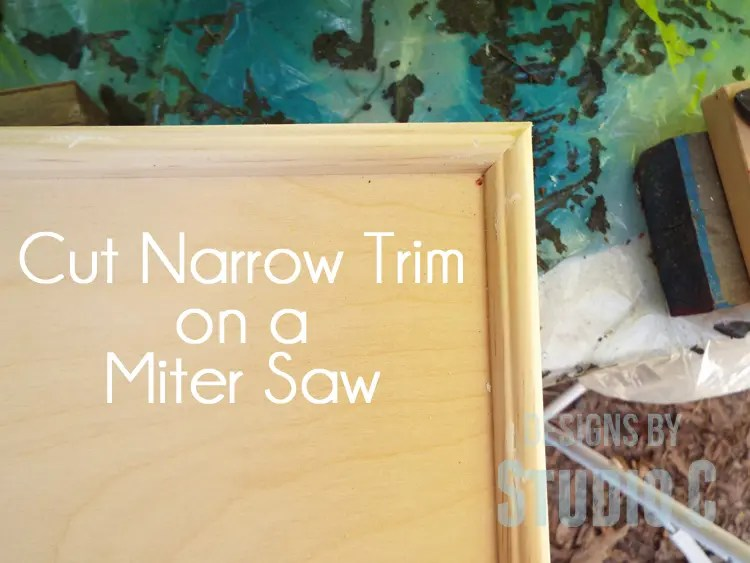 Cut Narrow Trim with a Miter Saw