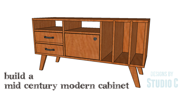 Diy plans to build a mid century modern cabinet for Modern furniture plans for the diy woodwork