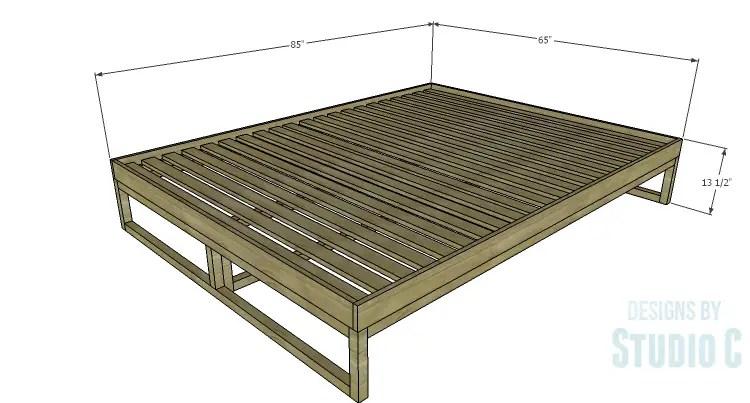 Diy plans to build a modern rustic platform bed for Rustic bed plans