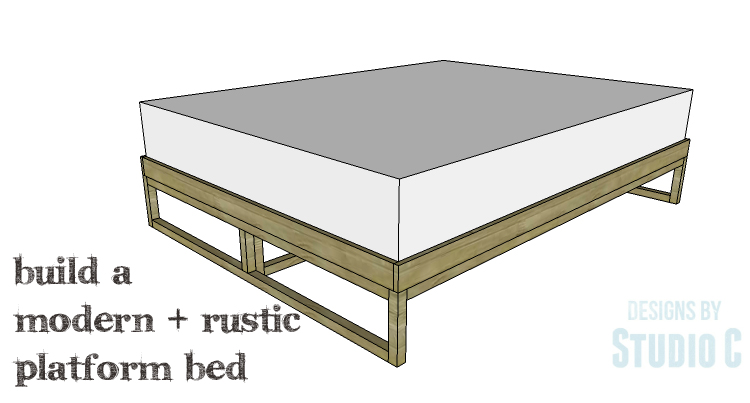 DIY Plans to Build a Modern+Rustic Queen Platform Bed_Copy