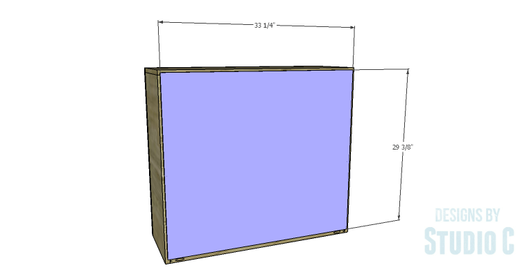 DIY Plans to Build a Brecken Dresser Hutch-Back