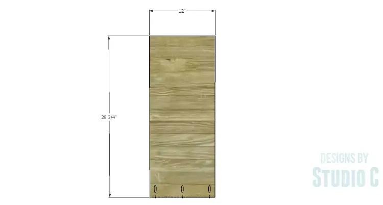 DIY Plans to Build a Brecken Dresser Hutch-Sides