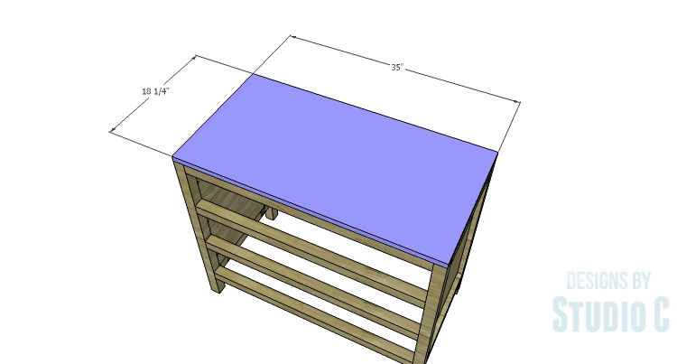 DIY Plans to Build a Brecken Dresser-Top