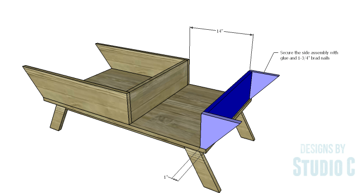 DIY Plans to Build a Brady Coffee Table-Side Assembly 2