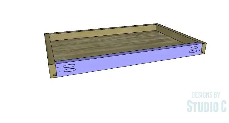 DIY Plans to Build an Open Shelf Desk-Center Drawer 4