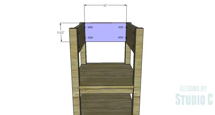 DIY Plans to Build an Open Shelf Desk-Outer Back