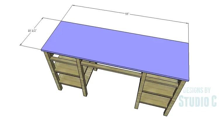 DIY Plans to Build an Open Shelf Desk-Top
