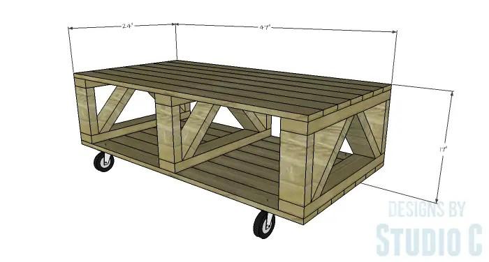 DIY Plans to Build a Westport Coffee Table