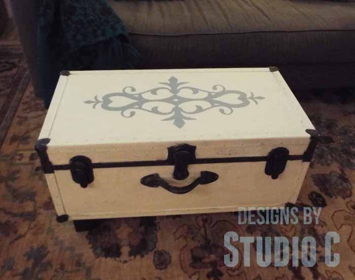 Old Trunk with a Chalk Paint Finish-Front View