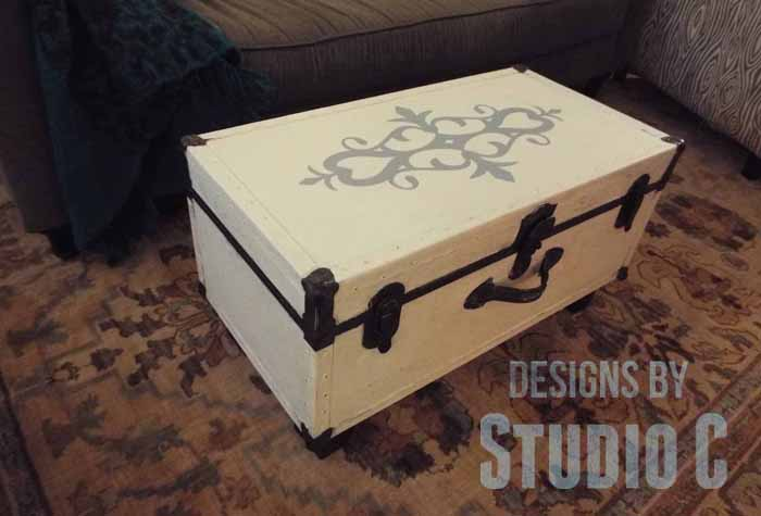 Old Trunk with a Chalk Paint Finish-Side View