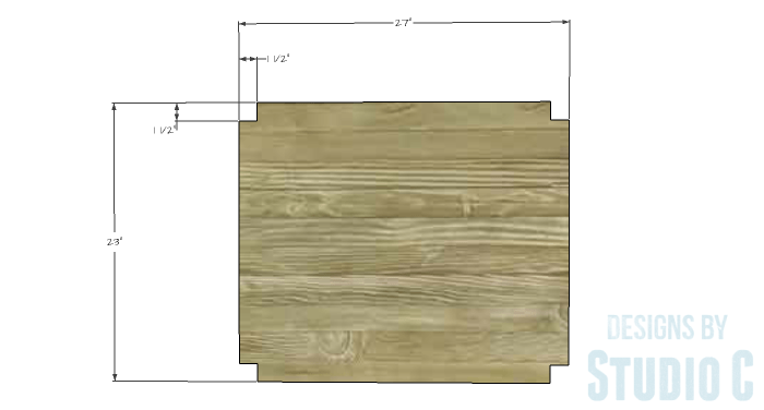 DIY Furniture Plans to Build a Blackwell Side Table-Lower Shelf 1