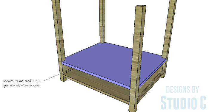 DIY Furniture Plans to Build a Blackwell Side Table-Middle Shelf