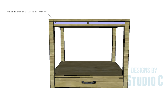 DIY Furniture Plans to Build a Blackwell Side Table-Slide Out