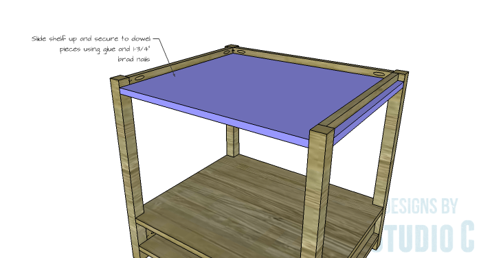 DIY Furniture Plans to Build a Blackwell Side Table-Upper Shelf