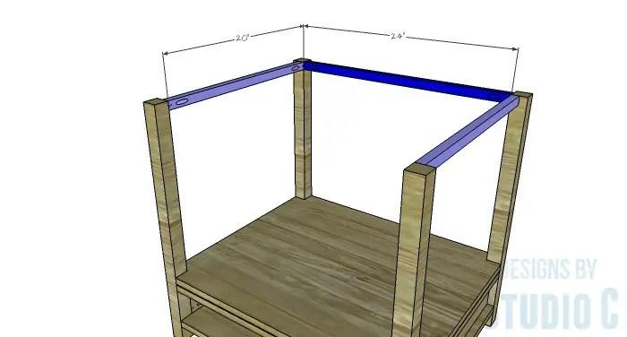 DIY Furniture Plans to Build a Blackwell Side Table-Upper Sides & Back