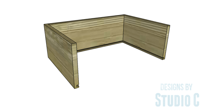 DIY Furniture Plans to Build a Contemporary Media Stand-Drawer 2