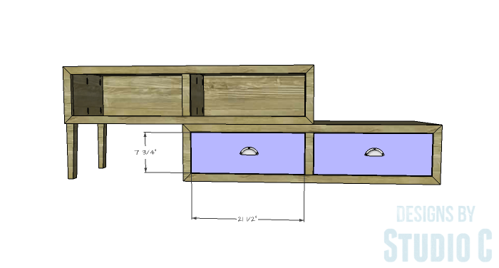 DIY Furniture Plans to Build a Contemporary Media Stand-Drawer Fronts