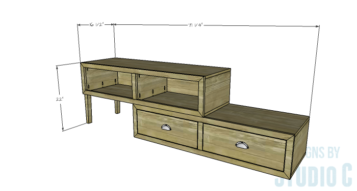 DIY Furniture Plans to Build a Contemporary Media Stand