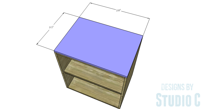 DIY Furniture Plans to Build a Swivel Top Media Cabinet-Top