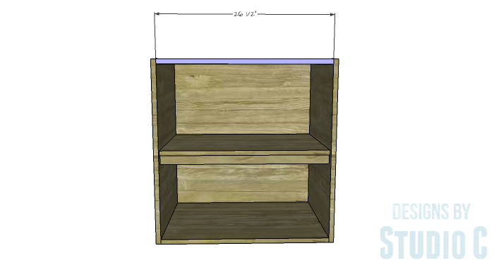 DIY Furniture Plans to Build a Swivel Top Media Cabinet-Upper Stretcher
