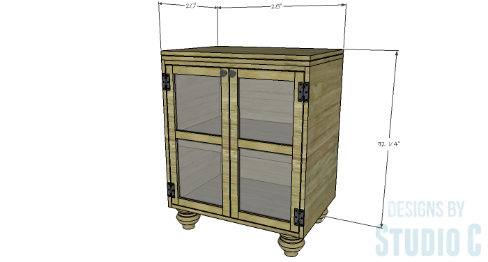 DIY Furniture Plans to Build a Swivel Top Media Cabinet