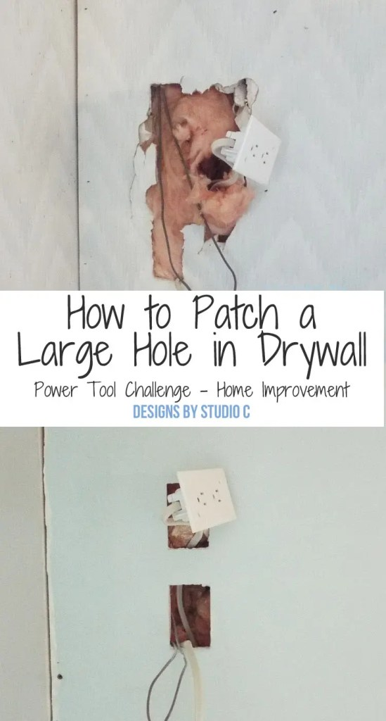 How to Patch a Large Hole in Drywall - Featured Image