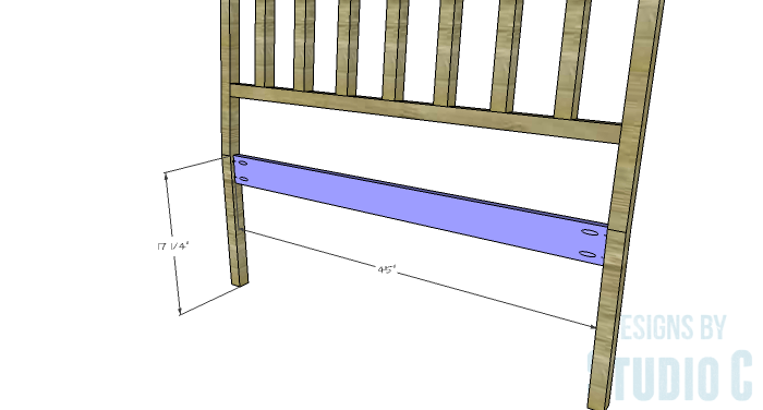 DIY Furniture Plans to Build a Maya Bench - Back Apron