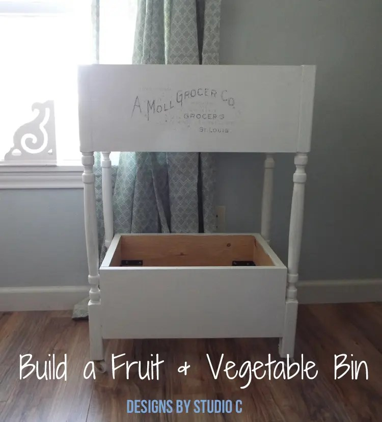 DIY Furniture Plans to Build a Fruit and Vegetable Bin - Finished Featured Image