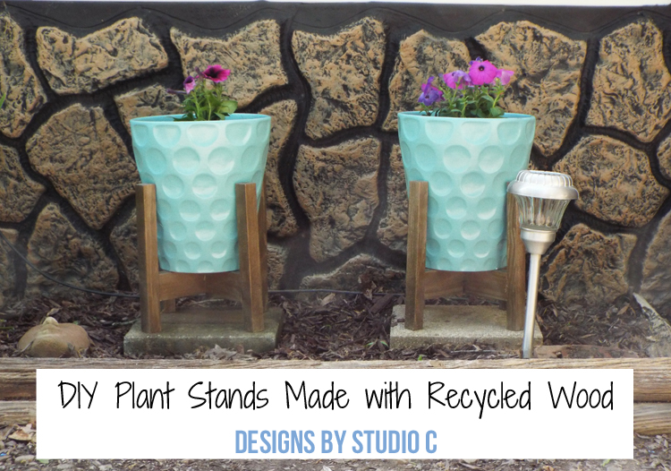 DIY Plant Stands Made with Recycled Wood